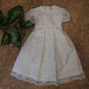 Bonnie Jean White Party Dress Size 5